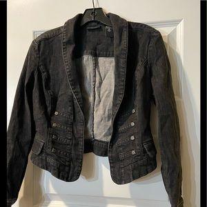 New York & Company cropped jean jacket- 6